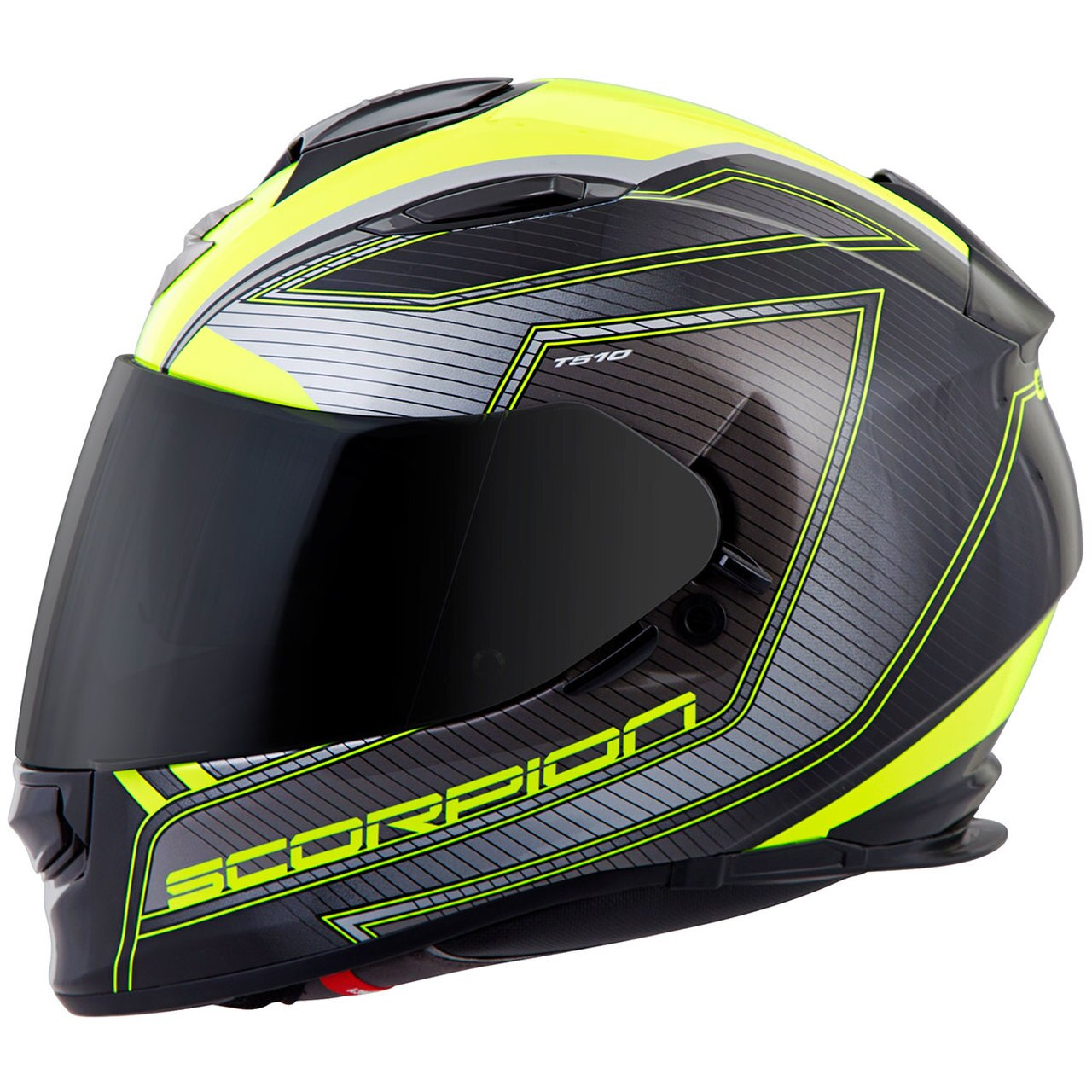EXO-T510 FULL-FACE TARMAC NEONBLACK side